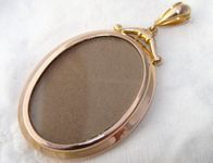Antique Victorian 9 carat Rose Gold Double Sided Window Locket Pendant