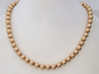 Antique Vintage 12ct 12K Yellow Gold GF Beads Necklace - Wear as Bracelet!