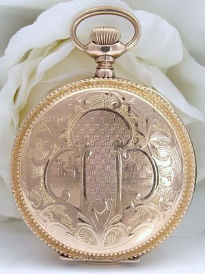 Antique 14 carat Gold GF ELGIN Pocket Watch  w/ Original  Box