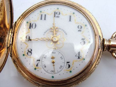 Antique American Waltham Gold Filled GF Pocket Watch