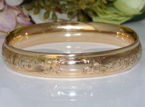 c1910 Antique Edwardian 12ct 12K Gold Filled GF Bangle Bracelet