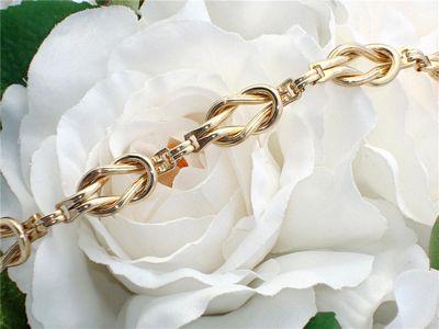 c1945 Antique Vintage RETRO  Yellow Gold Filled GF Knot Bracelet MINT