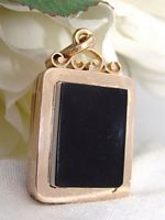 Antique Victorian 9ct Rose Gold Carnelian Fob Locket